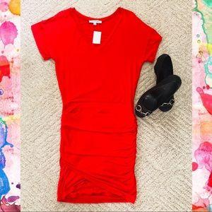 (NWT) Body Con Mini Dress w/ Ruching